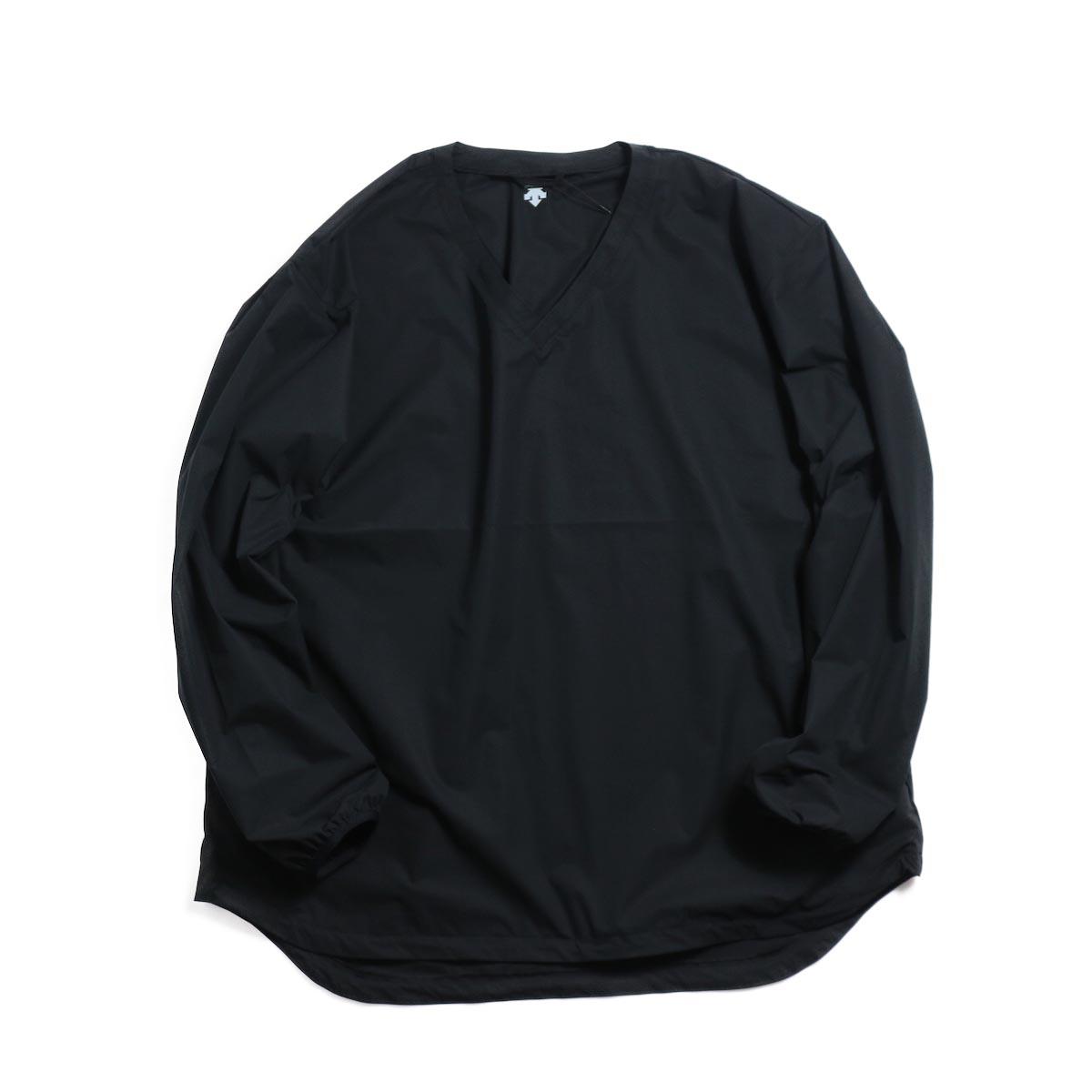 DESCENTE ddd / L/S Pullover Shirt -BLACK