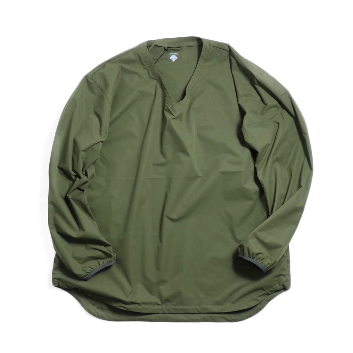 DESCENTE ddd / L/S Pullover Shirt -OGRN 正面