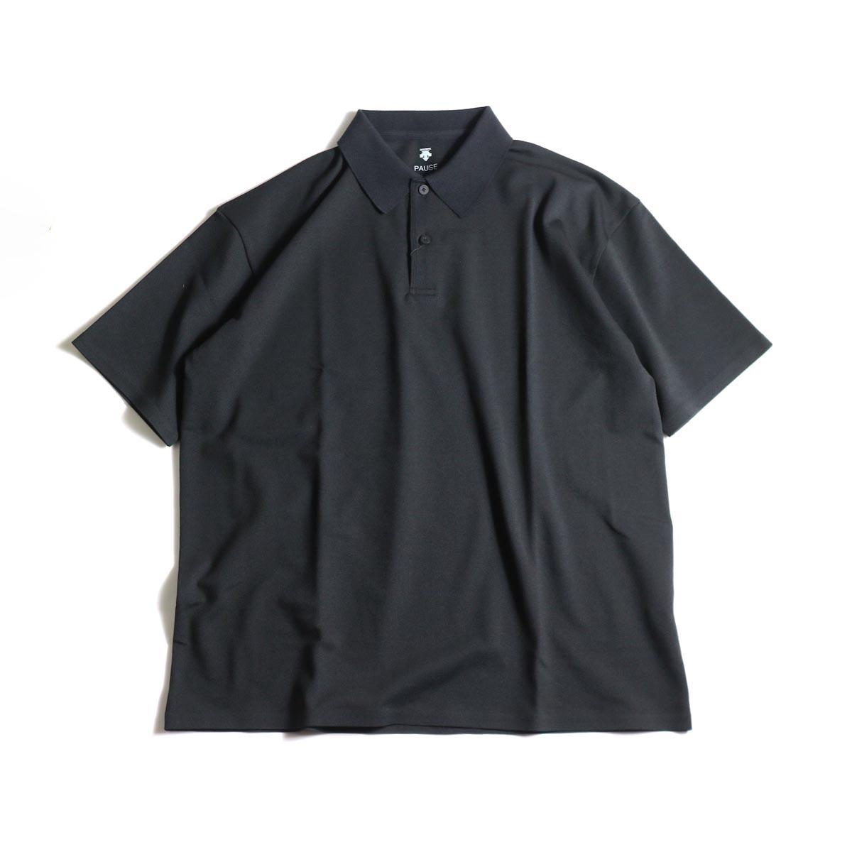 DESCENTE PAUSE / POLO SHIRT (Black)正面