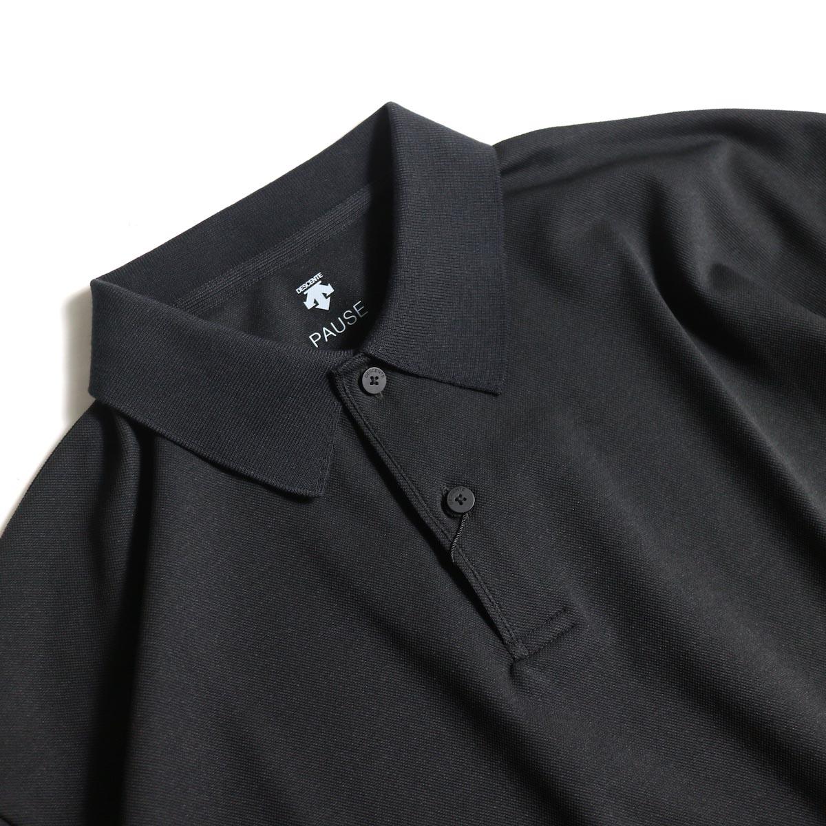 DESCENTE PAUSE / POLO SHIRT (Black)襟