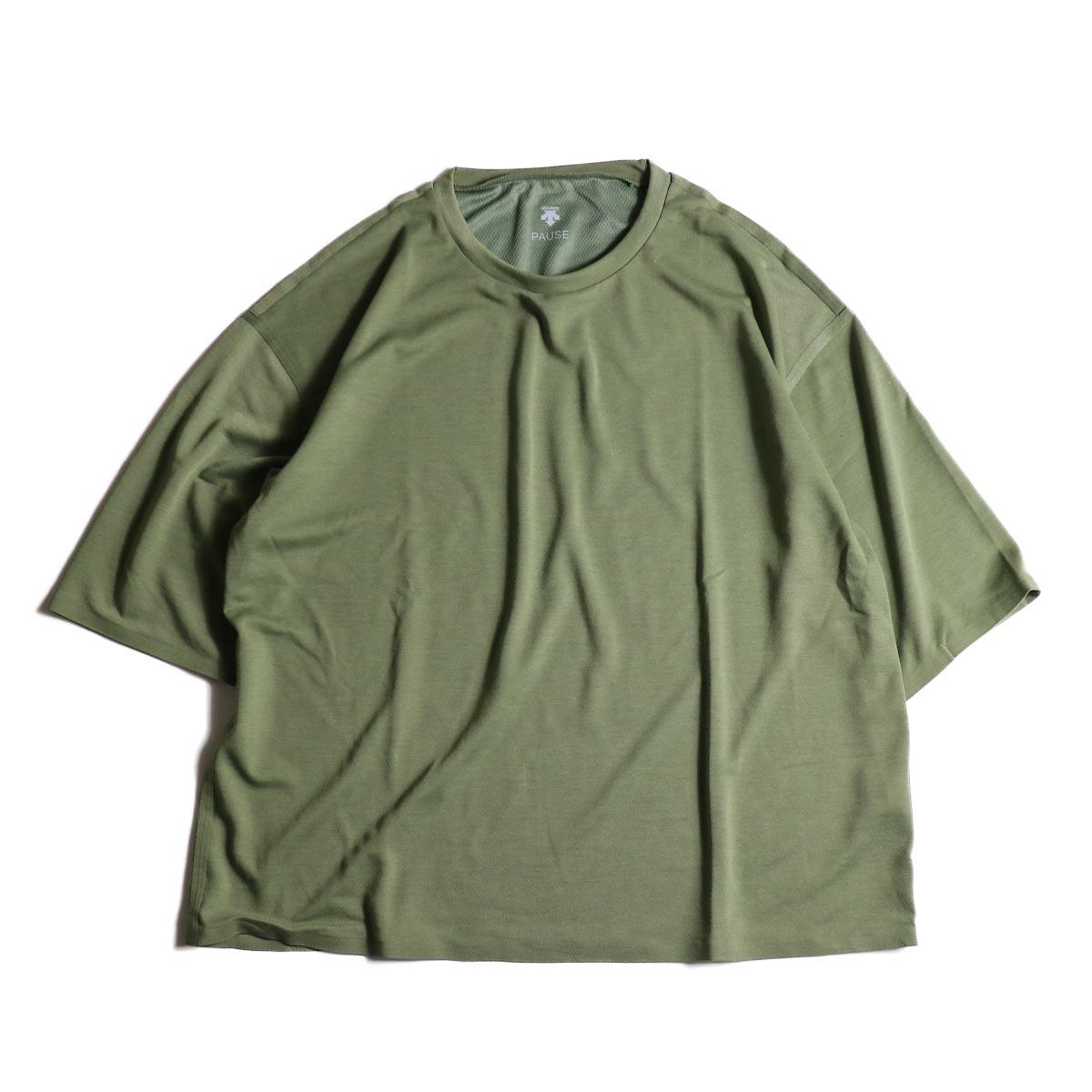 (Ladie's) DESCENTE PAUSE / ZEROSEAM BIG T-SHIRT (Khaki)