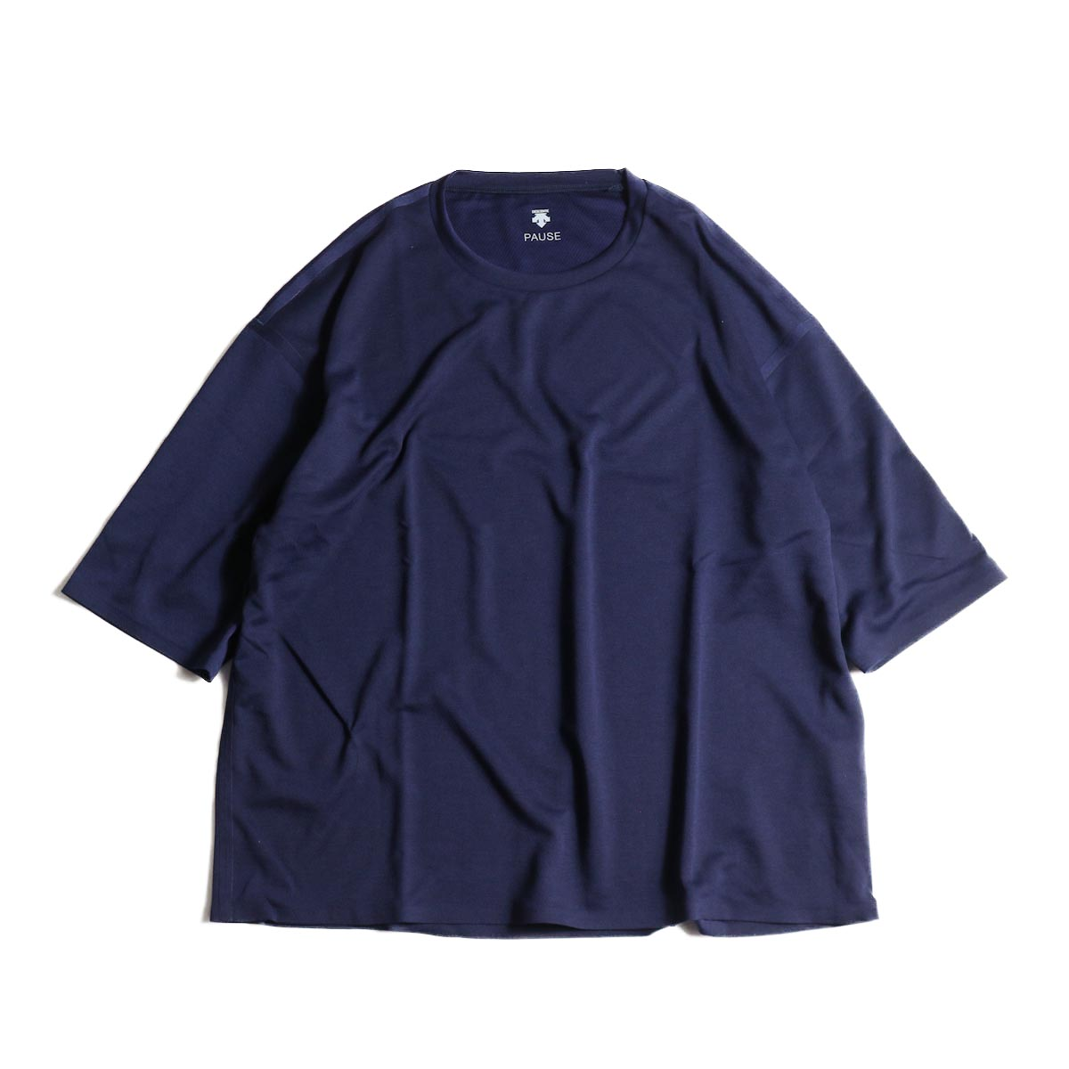 (Ladie's) DESCENTE PAUSE / ZEROSEAM BIG T-SHIRT (Navy)