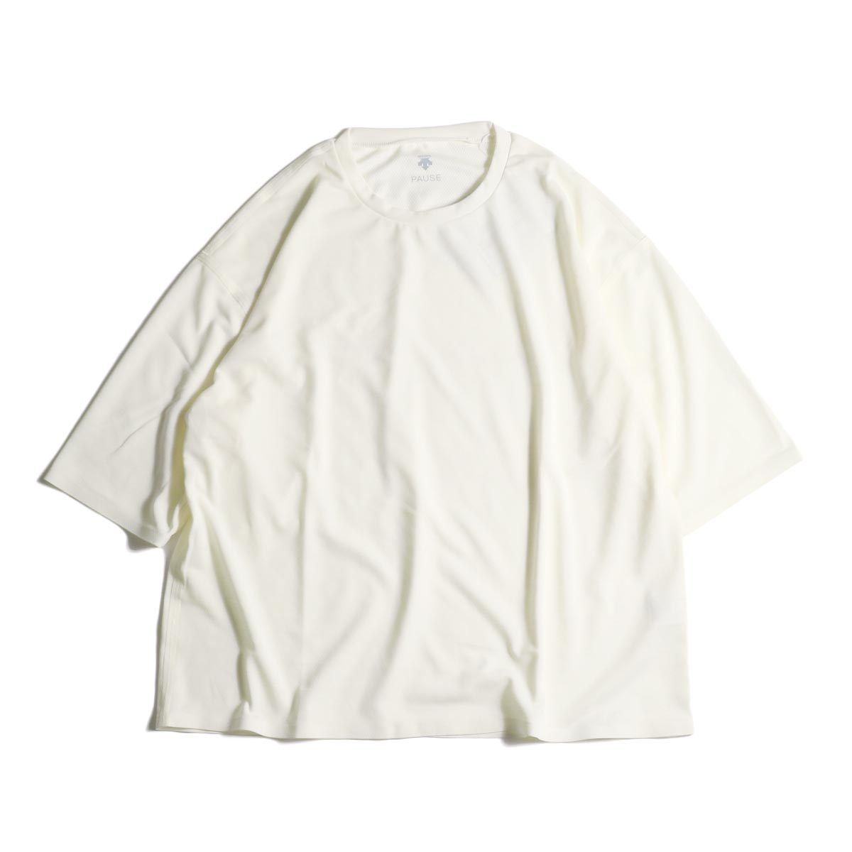 (Ladie's) DESCENTE PAUSE / ZEROSEAM BIG T-SHIRT (White)