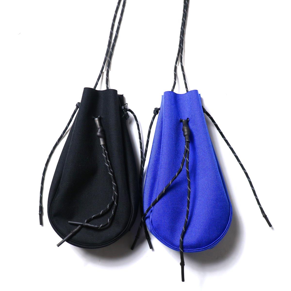 吉岡衣料店 / drawstring bag -S-. (左:Black / 右:Blue)