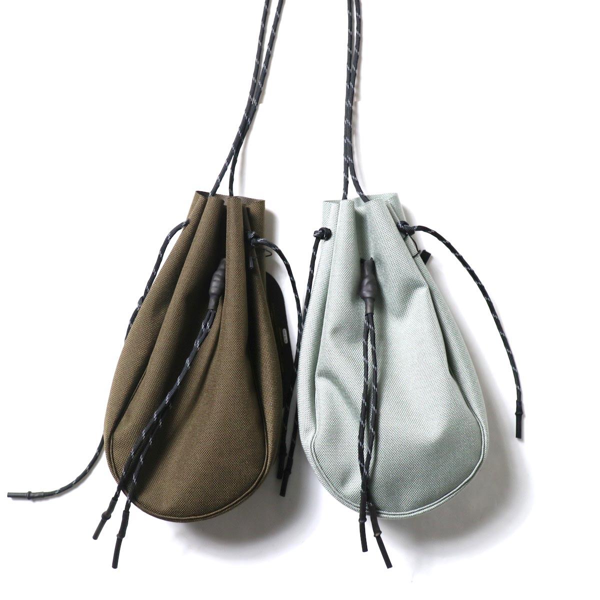 吉岡衣料店 / drawstring bag -S-. (左:Brown / 右:gray)