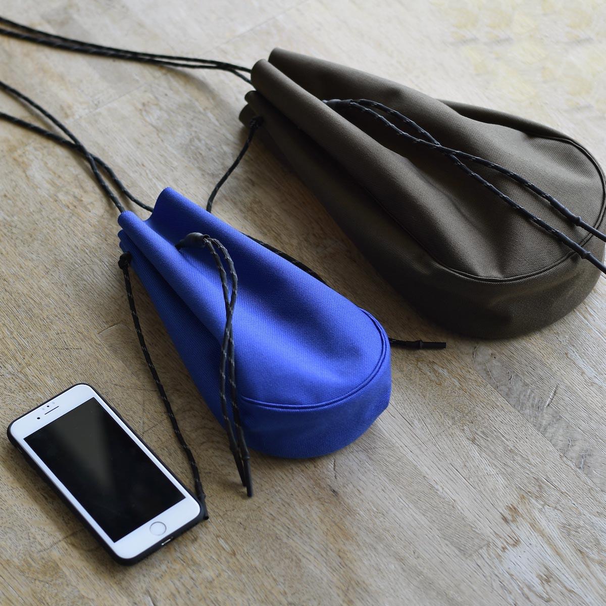 吉岡衣料店 / drawstring bag -S-. SとLの比較