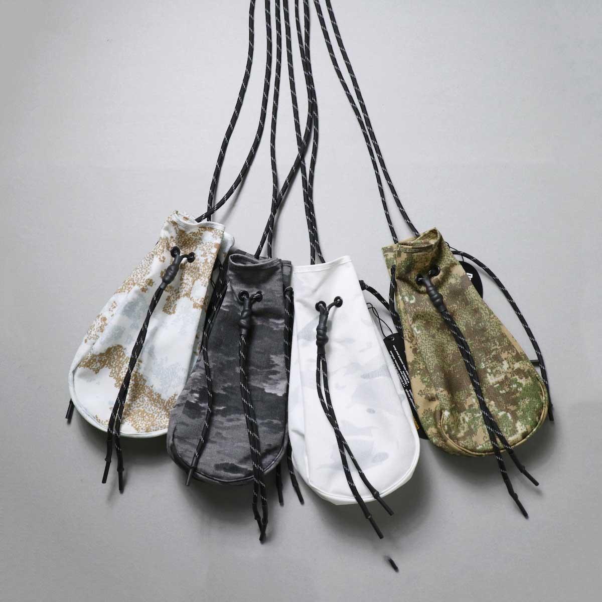 吉岡衣料店 / drawstring bag -S-. (camo)