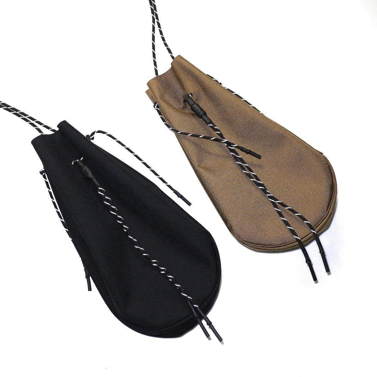 吉岡衣料店 / drawstring bag -L-. Black,coyote 2色