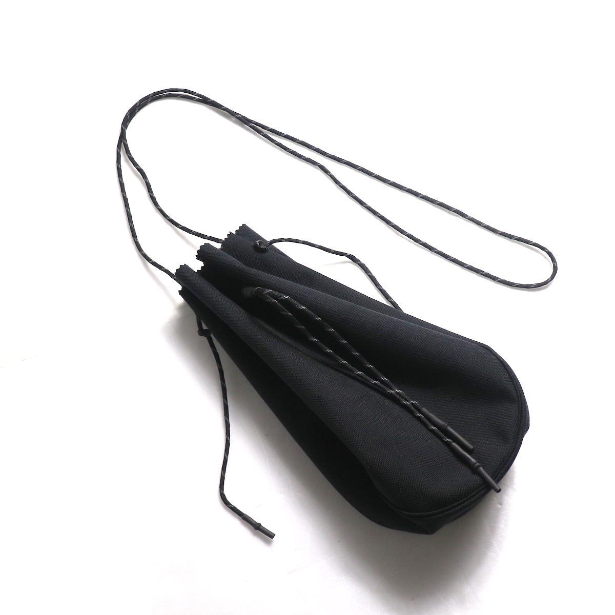 吉岡衣料店 / drawstring bag -L-. (Black)