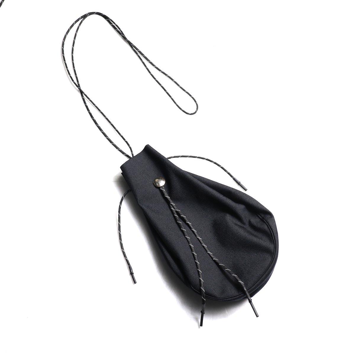 吉岡衣料店 / drawstring bag -L-. w/concho. (Black)正面