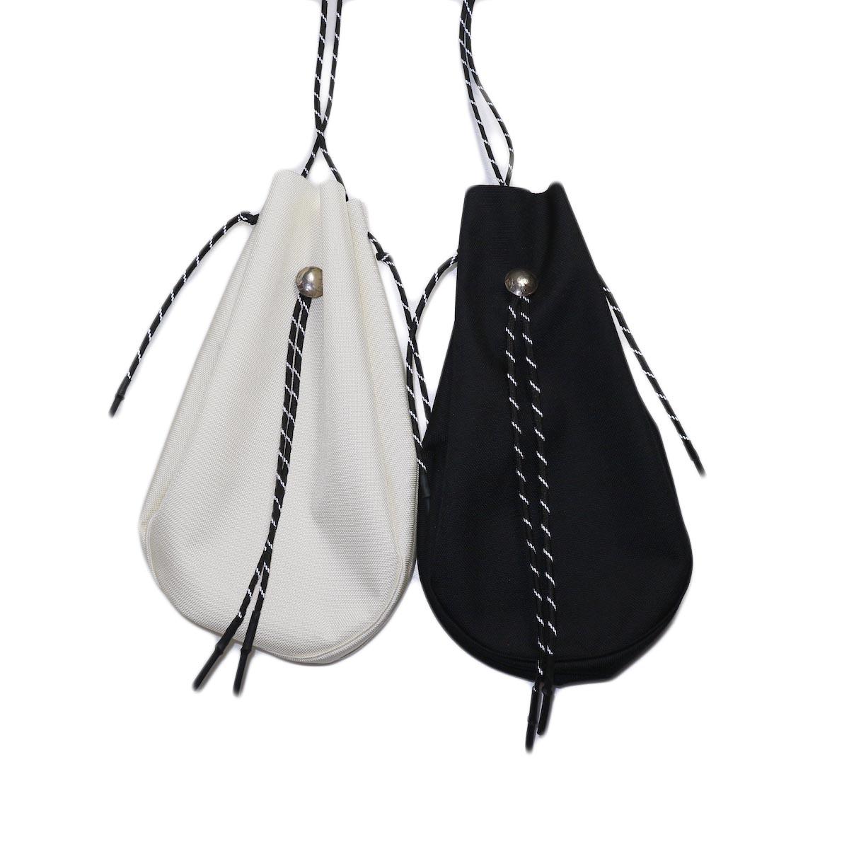 吉岡衣料店 / drawstring bag -L-. w/concho. white 2色