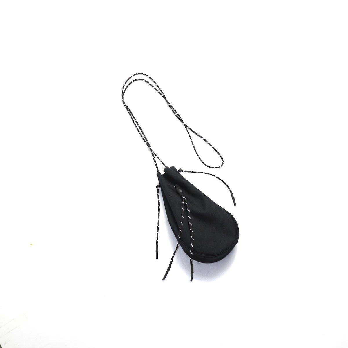 吉岡衣料店 / drawstring bag -S-. (Black)正面