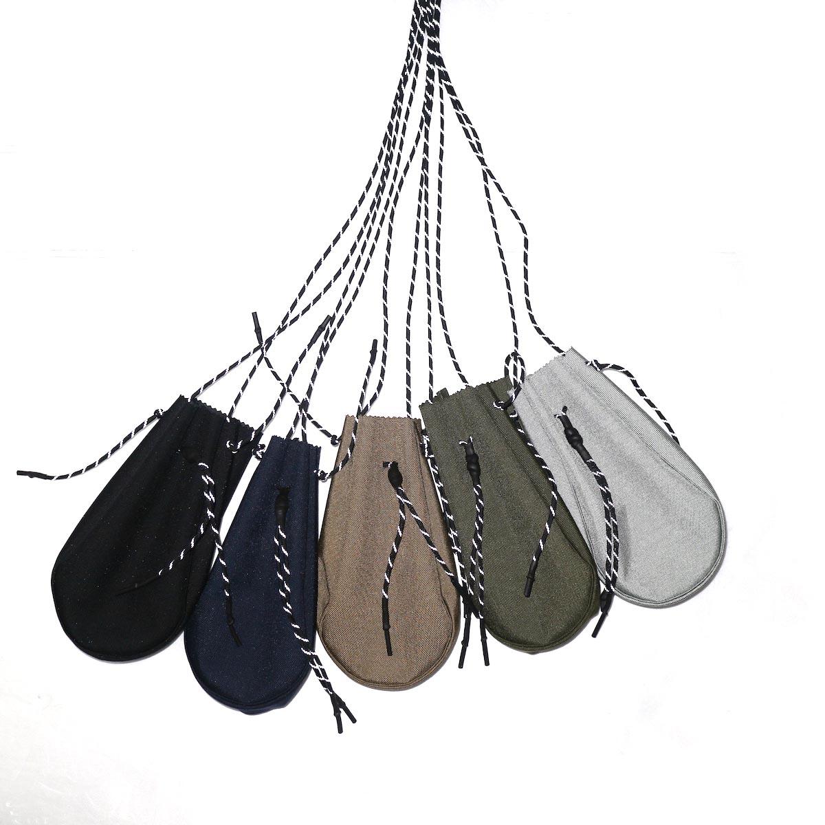 吉岡衣料店 / drawstring bag -S-. リフレクターパラコード