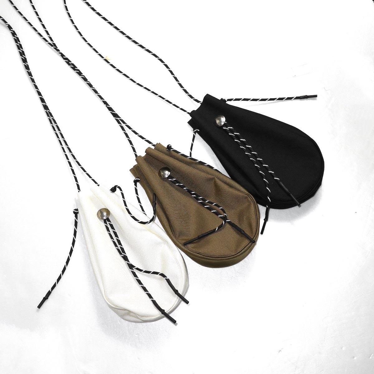 吉岡衣料店 / drawstring bag -S-. w/concho. (Black) 3色