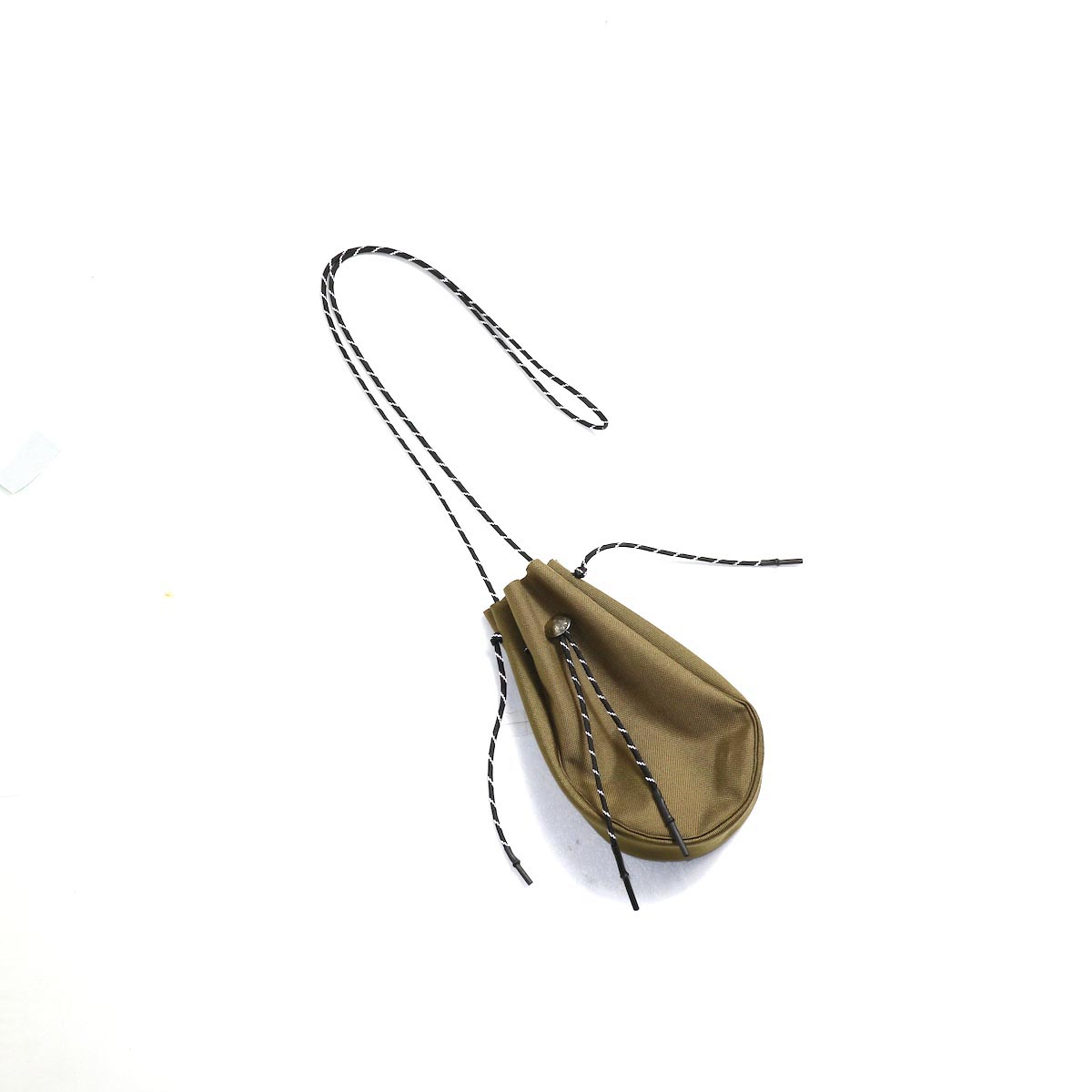吉岡衣料店 / drawstring bag -S-. w/concho. (Coyote)