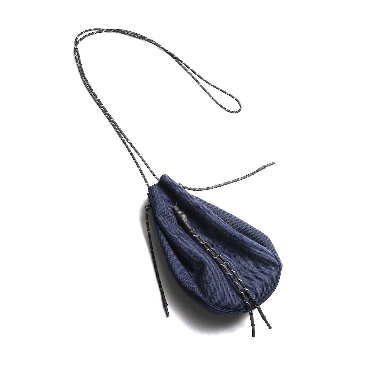 吉岡衣料店 / drawstring bag -S-. (Dark Navy)正面