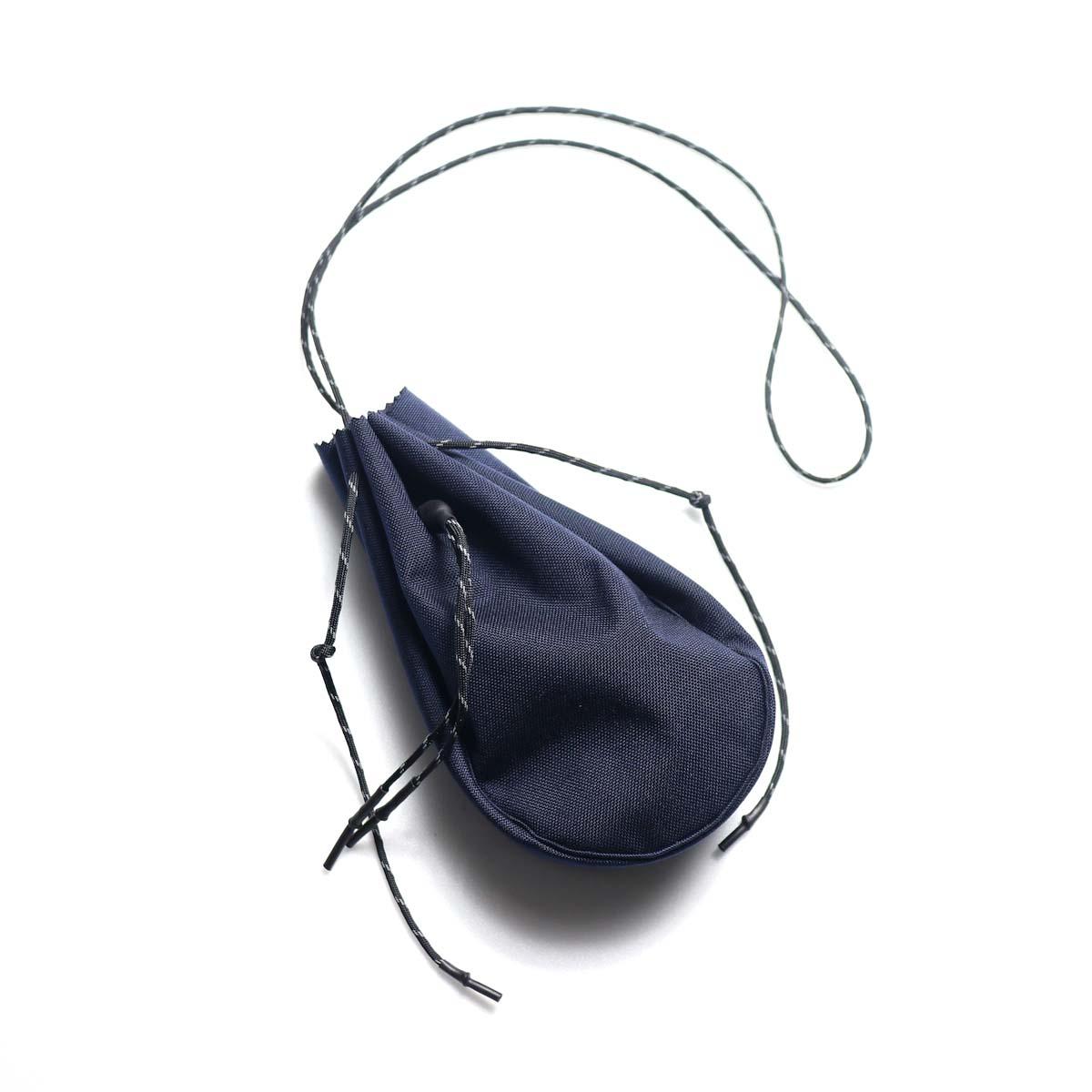 吉岡衣料店 / drawstring bag -S-. (Navy)
