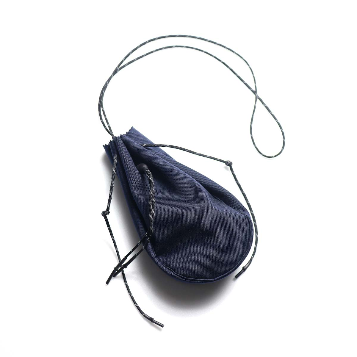 吉岡衣料店 / drawstring bag -S-. (Navy)