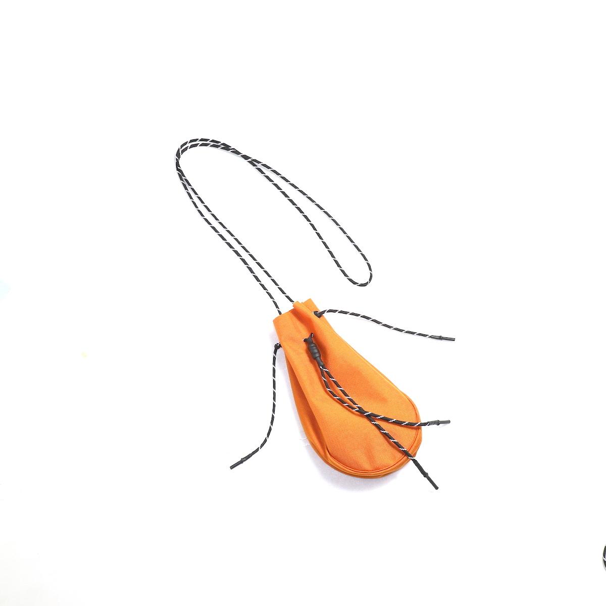 吉岡衣料店 / drawstring bag -S-. (Orange)