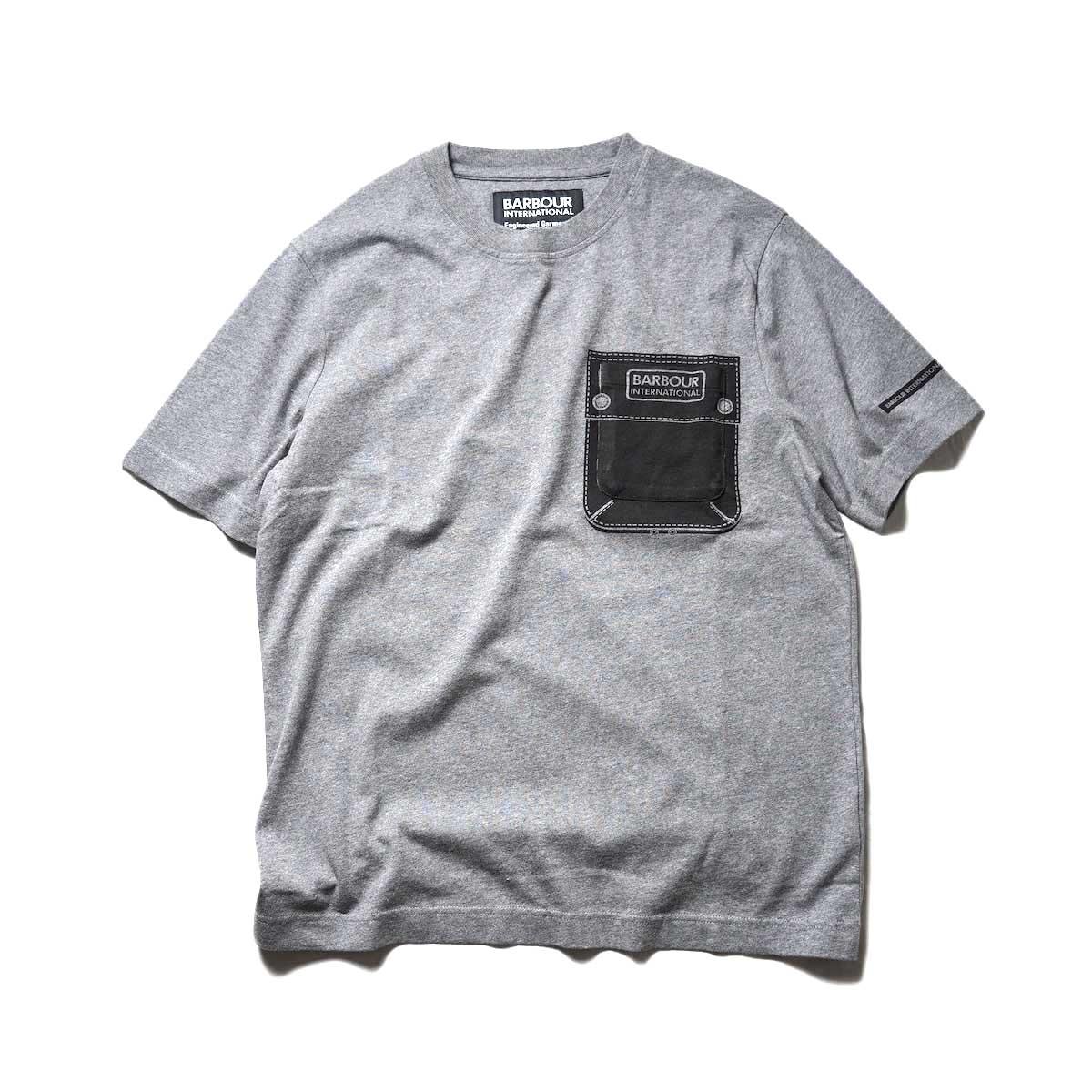 Engineered Garments × BARBOUR International / B.INTL EG Tee  (Gray)