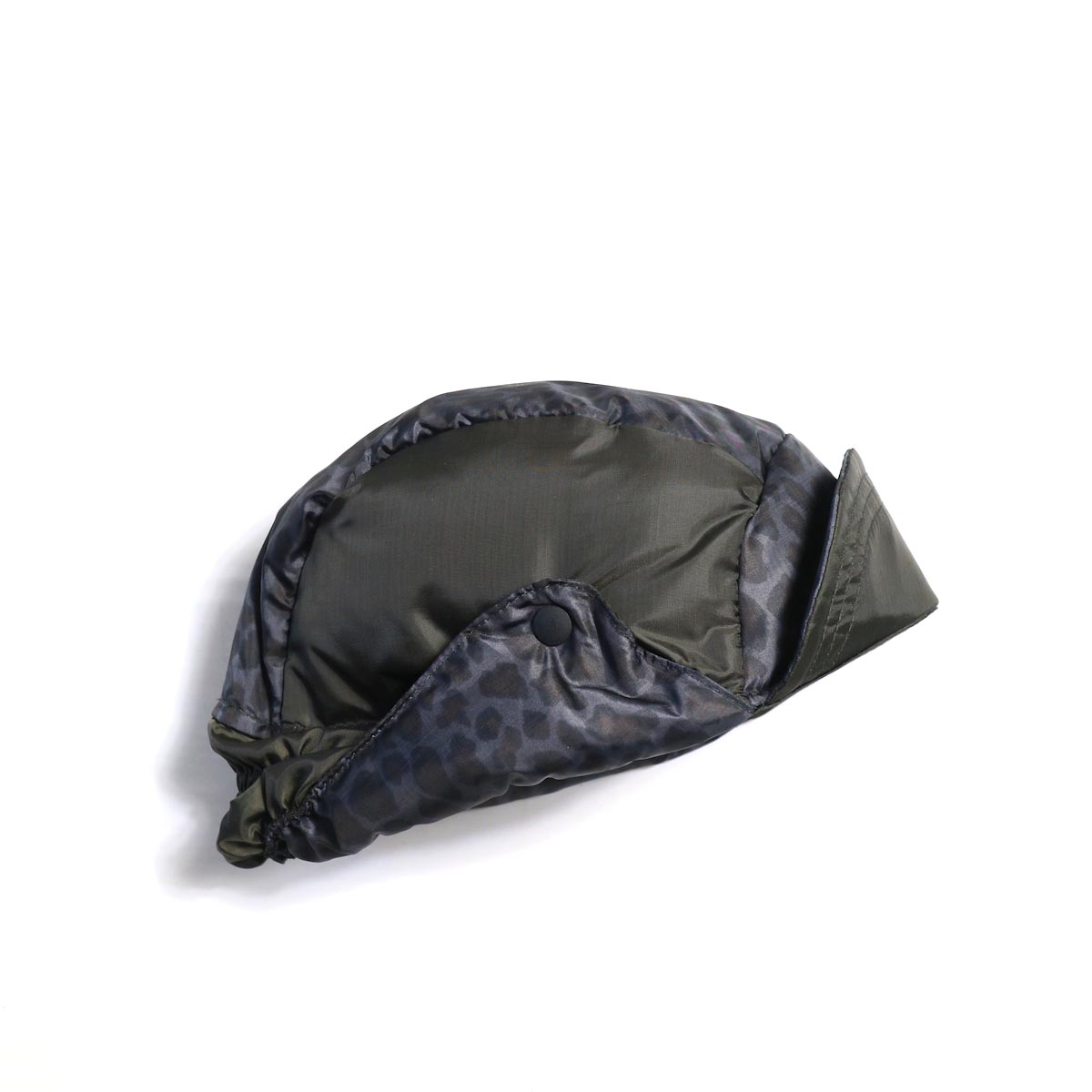 Needles / Bird Shooting Cap - Poly Taffeta / Leopard (Black)