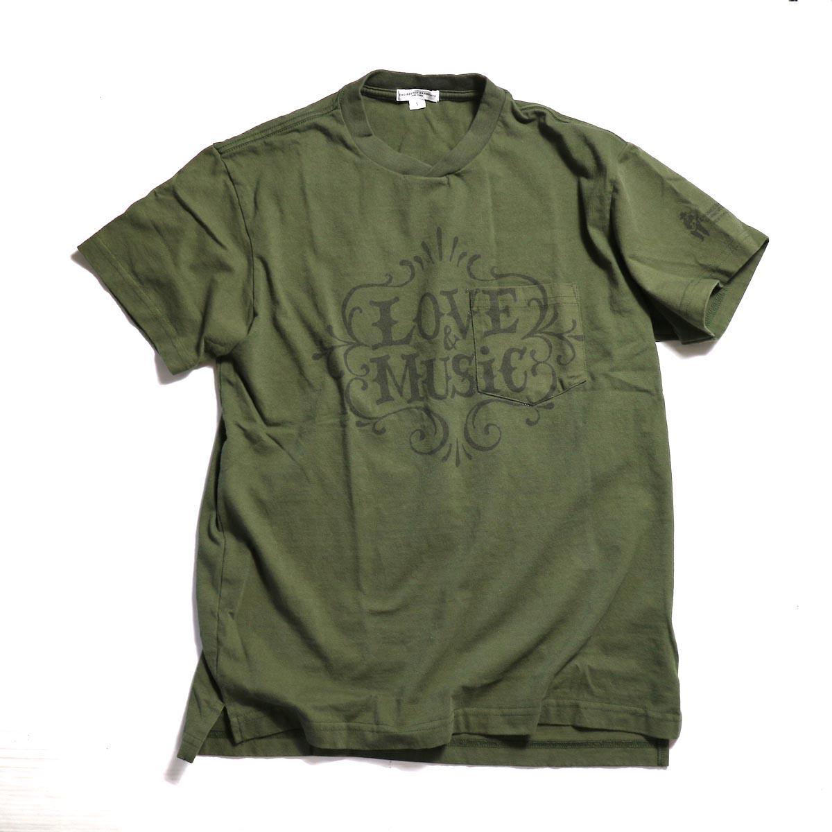 FUTURE PRIMITIVE / FP COACH JKT -LT.BLUEENGINEERED GARMENTS / Printed Cross Crew Neck T-shirt -Love & Music -OLIVE