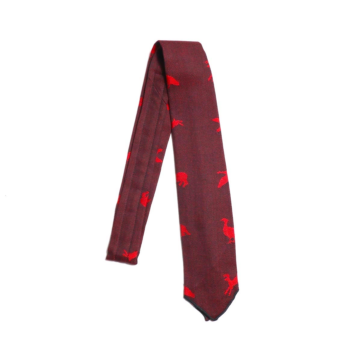 ENGINEERED GARMENTS / Neck Tie Game Animal Jacquard -RED/BLACK