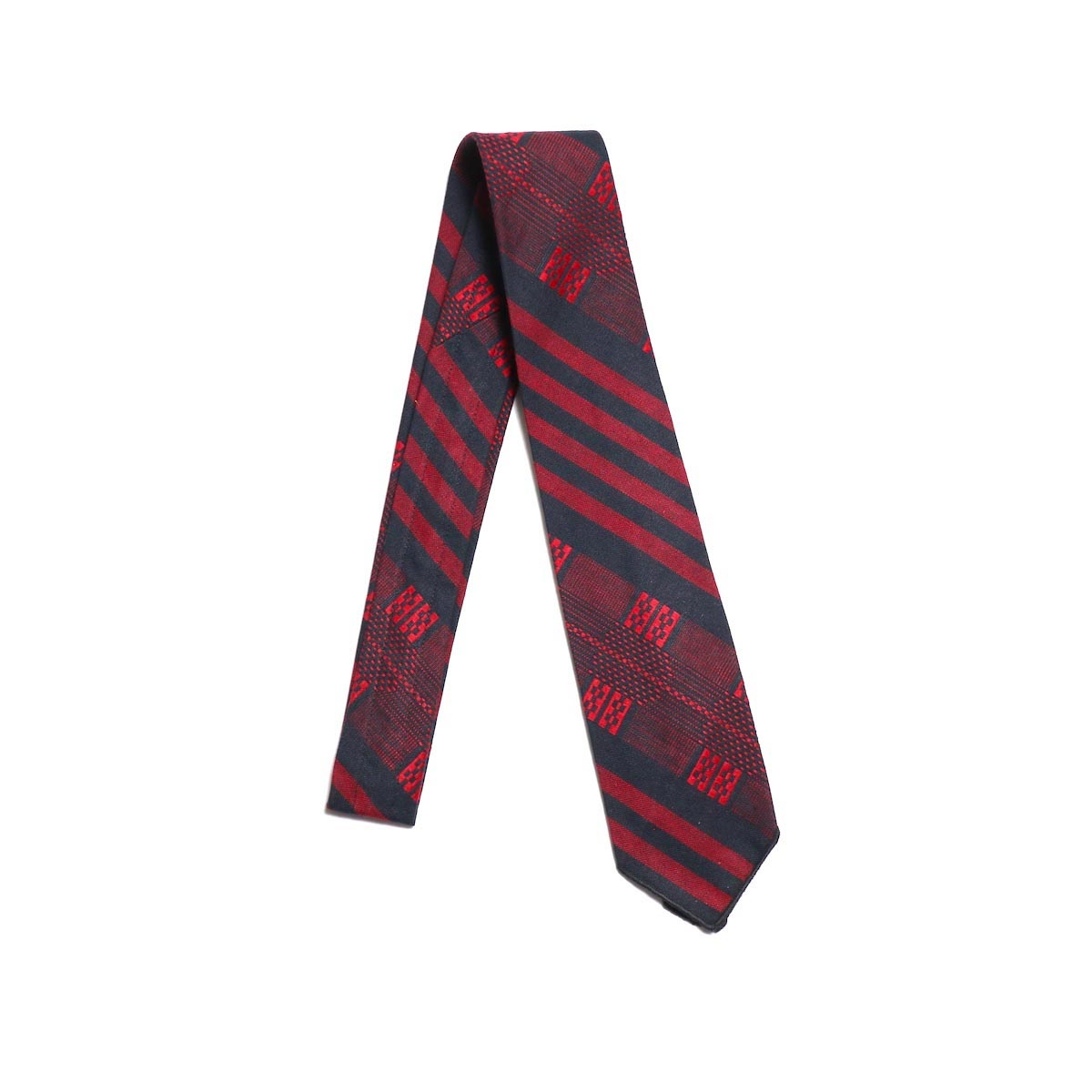 ENGINEERED GARMENTS / Neck Tie Ethnic St. Jacquard -RED/BLACK