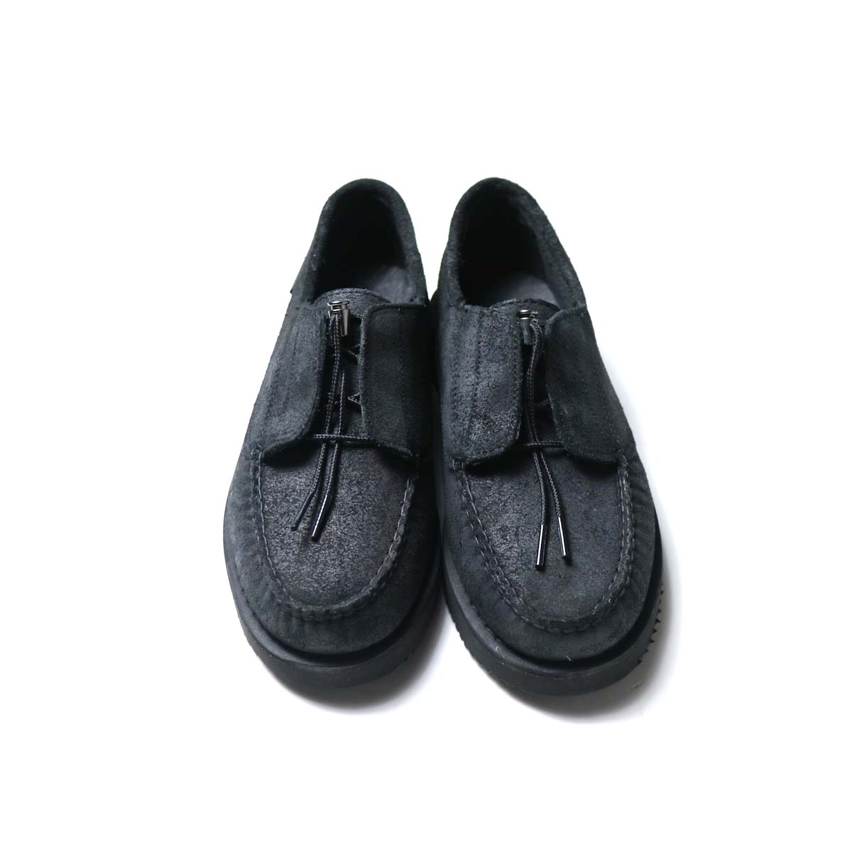Engineered Garments × SEBAGO / COVERDECK - BLACK WAXY SUEDE 前
