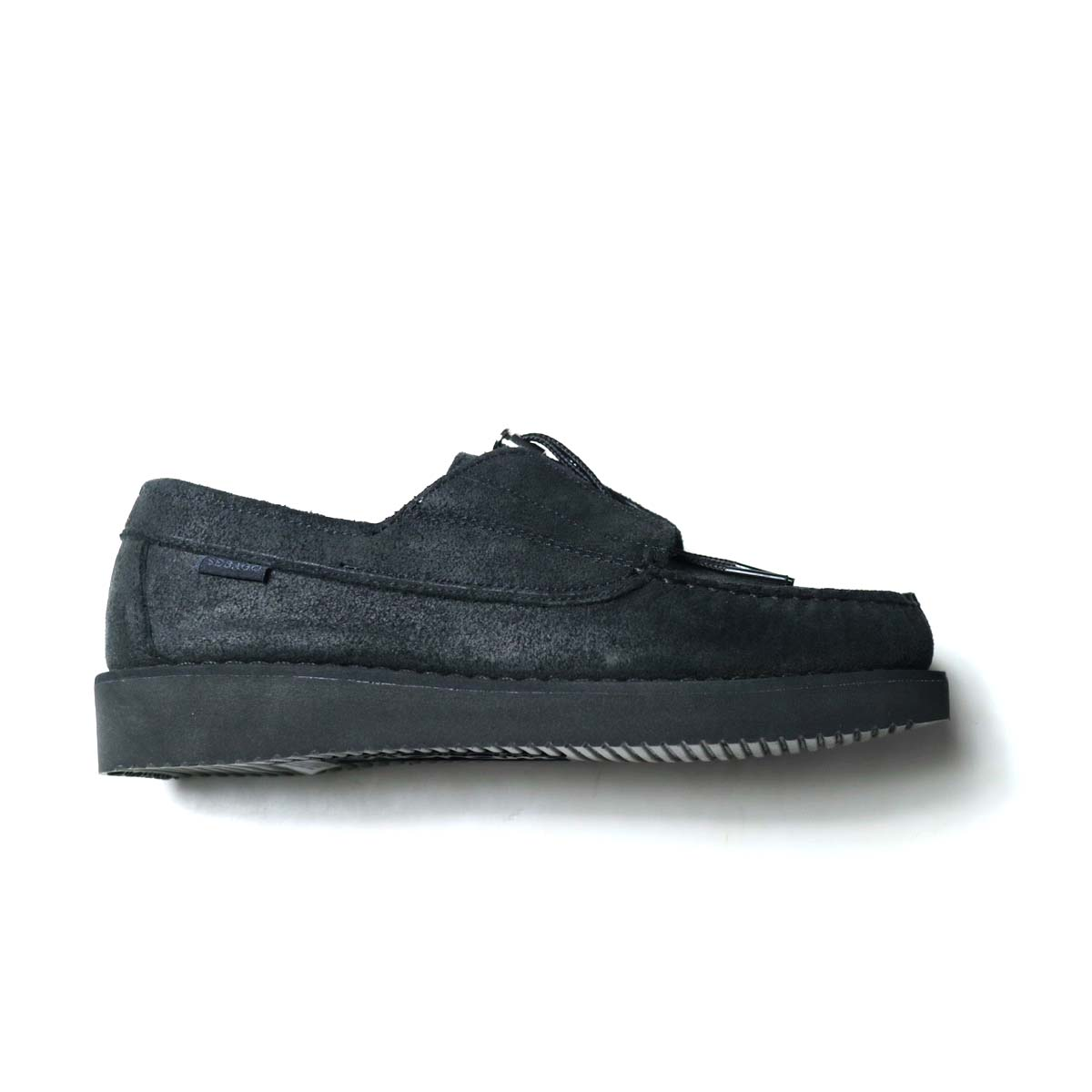 Engineered Garments × SEBAGO / COVERDECK - BLACK WAXY SUEDE横