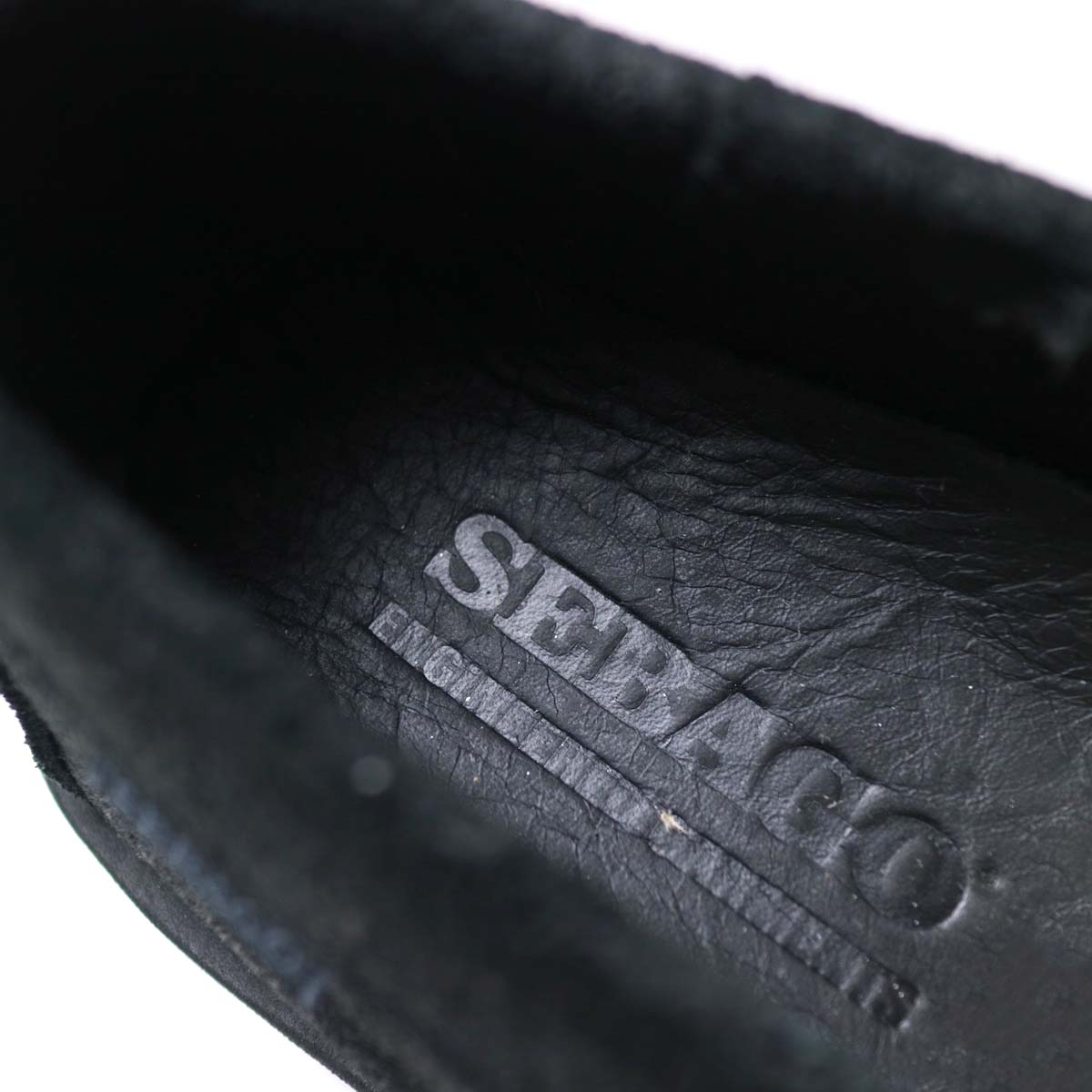 Engineered Garments × SEBAGO / COVERDECK - BLACK WAXY SUEDE インソール