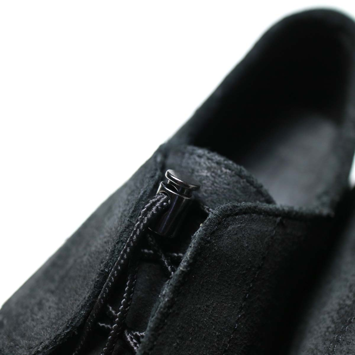 Engineered Garments × SEBAGO / COVERDECK - BLACK WAXY SUEDE シューレース