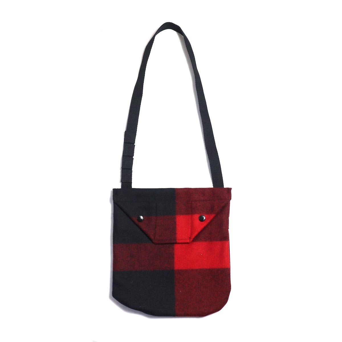Engineered Garments / Shoulder Pouch - Big Plaid Wool Melton (Black)