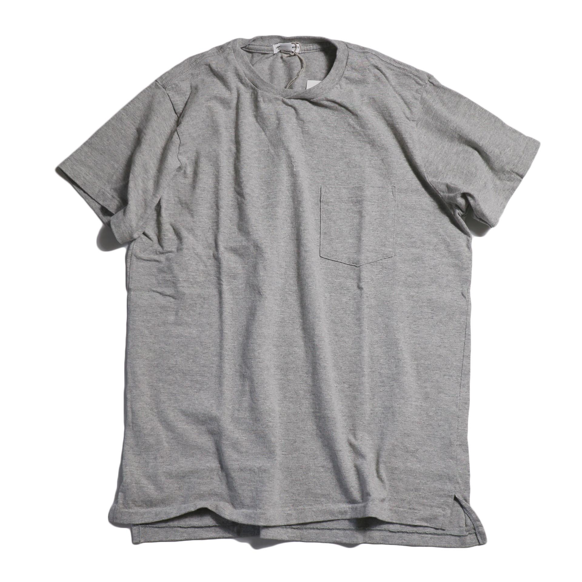 "ENGINEERED GARMENTS WORKADAY / ""Crossover Neck Pocket Tee"" -Gray"
