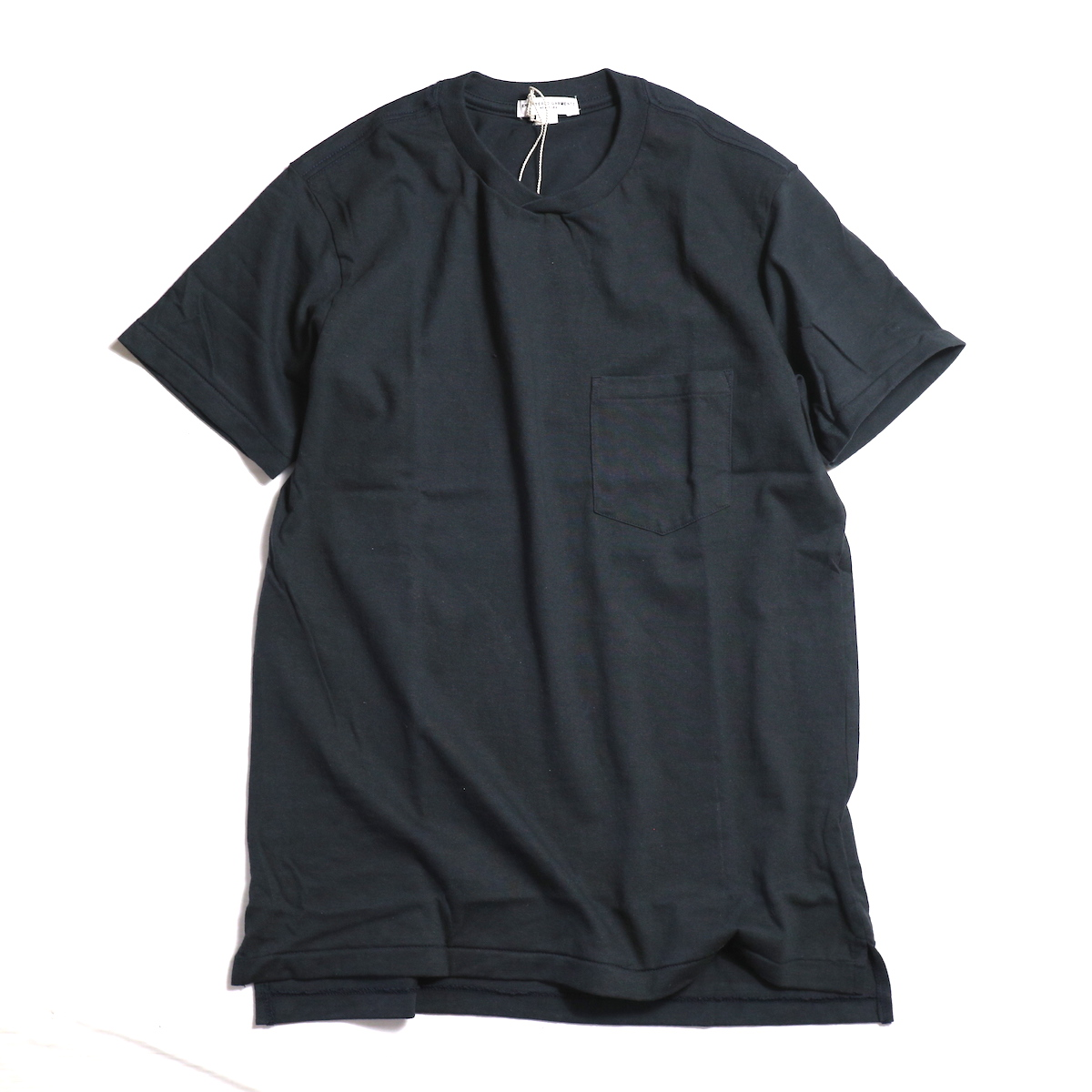 "ENGINEERED GARMENTS WORKADAY / ""Crossover Neck Pocket Tee"" -Navy"
