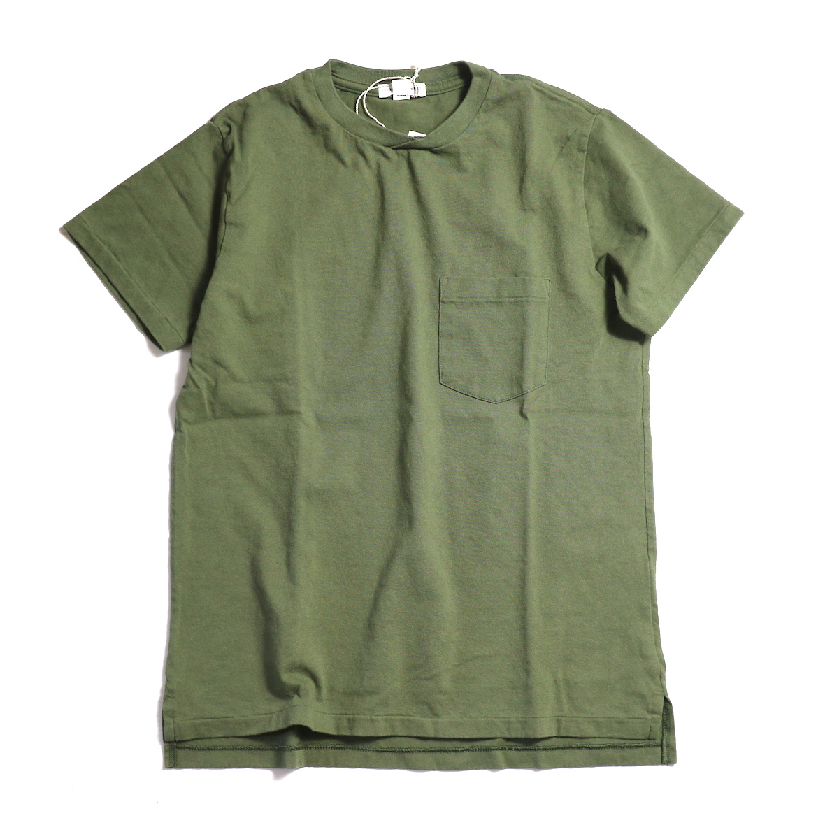"ENGINEERED GARMENTS WORKADAY / ""Crossover Neck Pocket Tee"" -Olive"