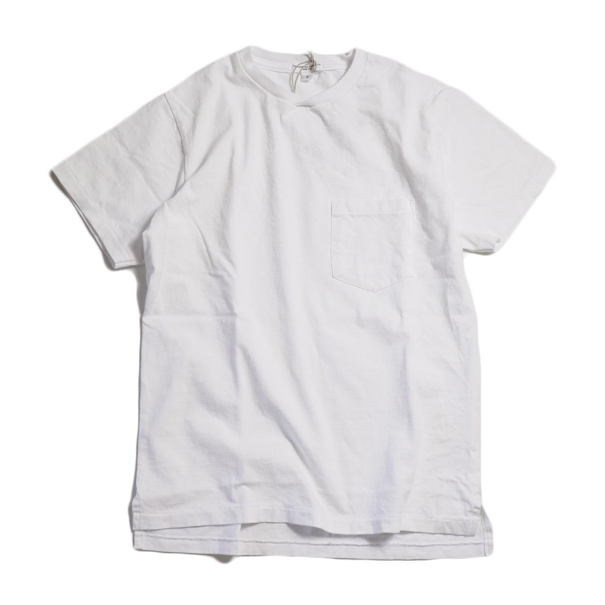 "ENGINEERED GARMENTS WORKADAY / ""Crossover Neck Pocket Tee"" -White"