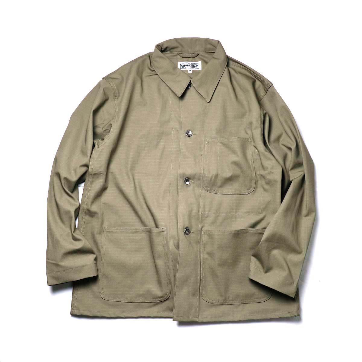 Engineered Garments Workaday / Utility Jacket - Cotton Ripstop (Khaki)
