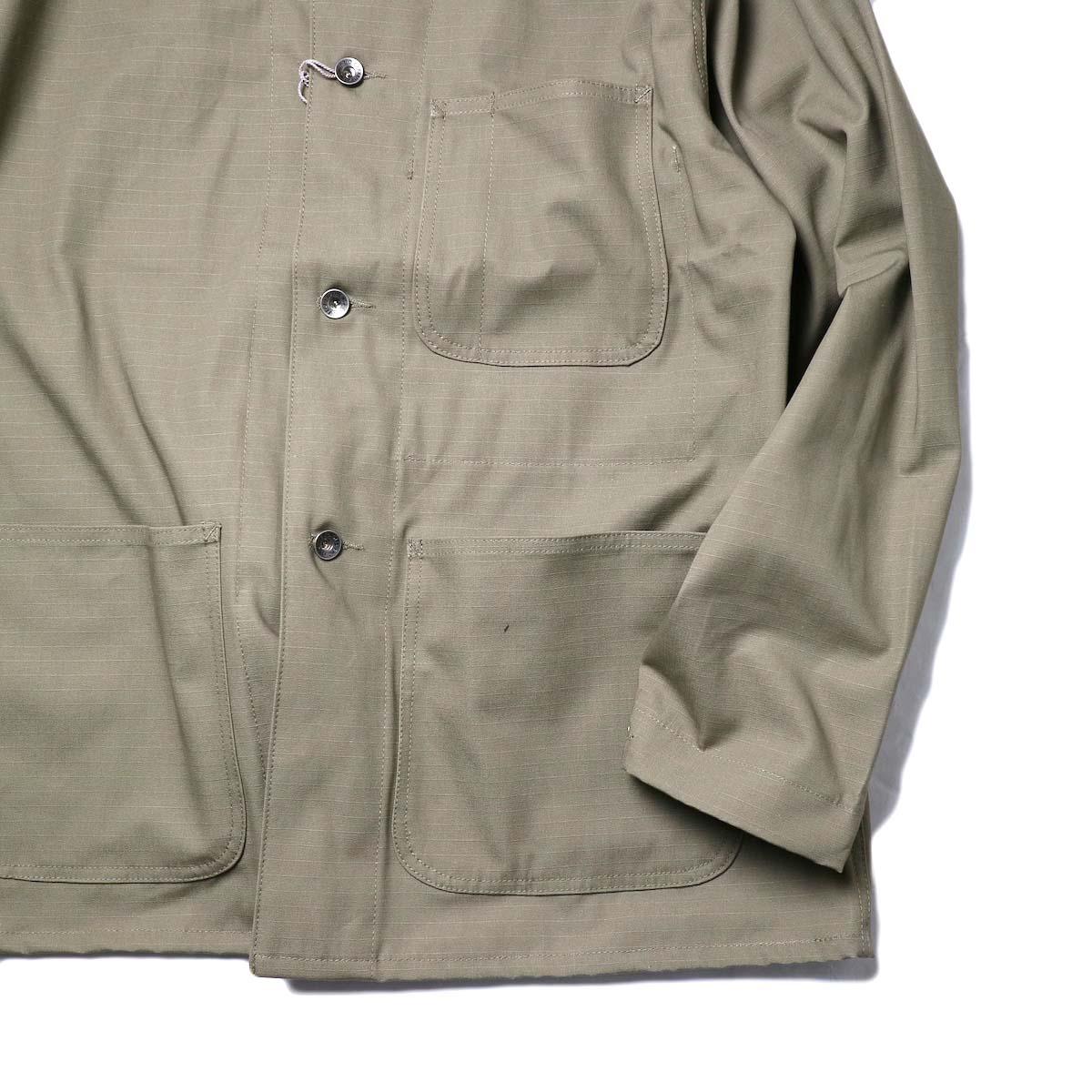 Engineered Garments Workaday / Utility Jacket - Cotton Ripstop (Khaki)袖、裾