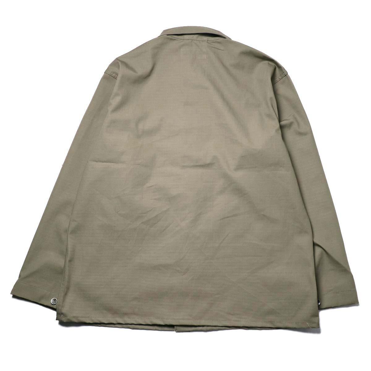 Engineered Garments Workaday / Utility Jacket - Cotton Ripstop (Khaki)背面