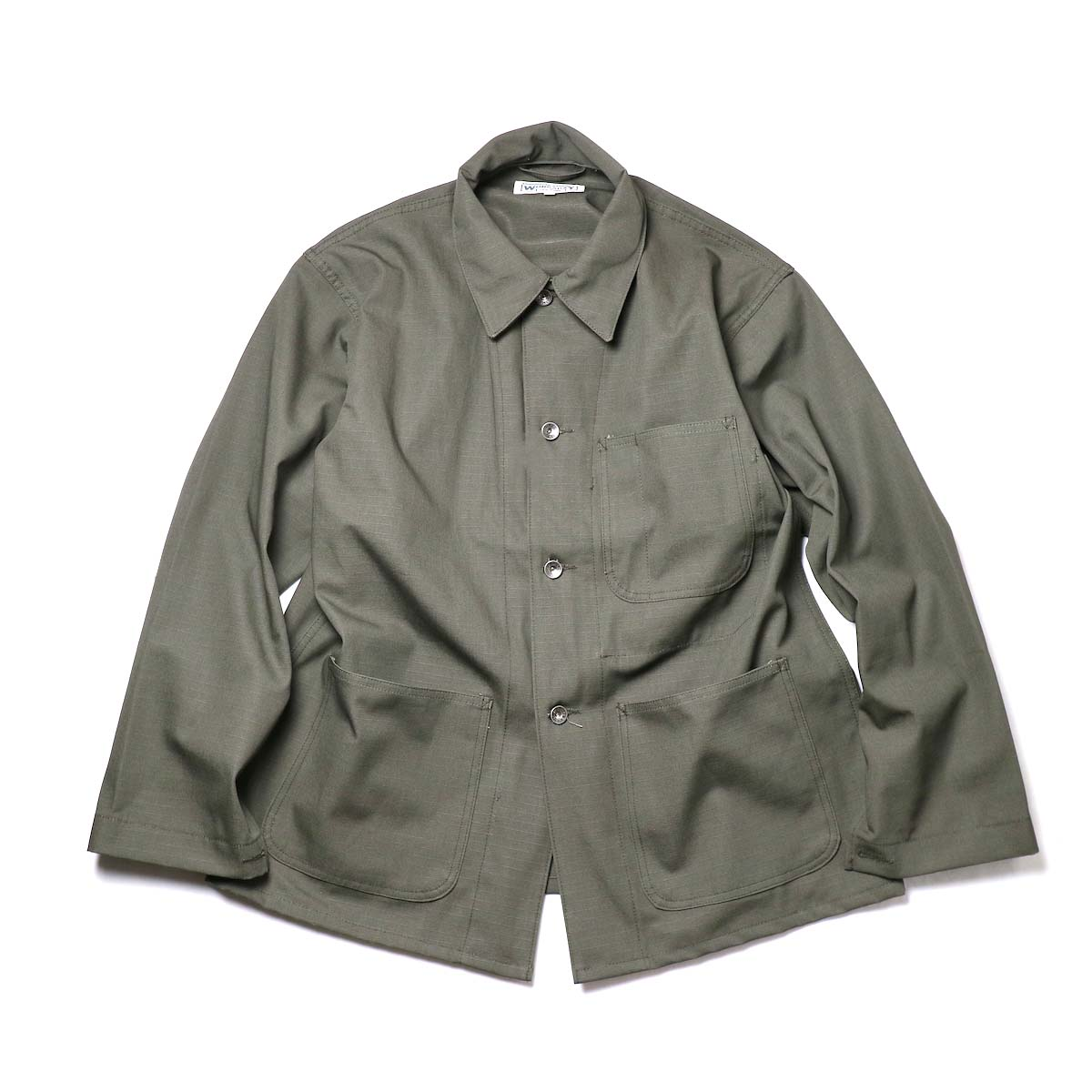 Engineered Garments Workaday / Utility Jacket - Cotton Ripstop (Olive)正面