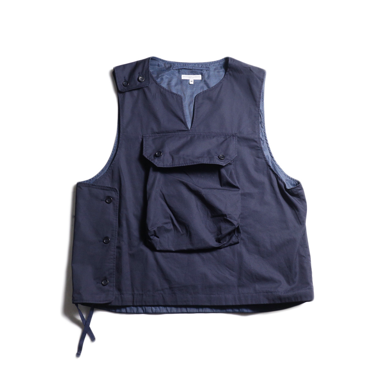 Engineered Garments / Cover Vest -High Count Twill (Dk.Navy) 正面