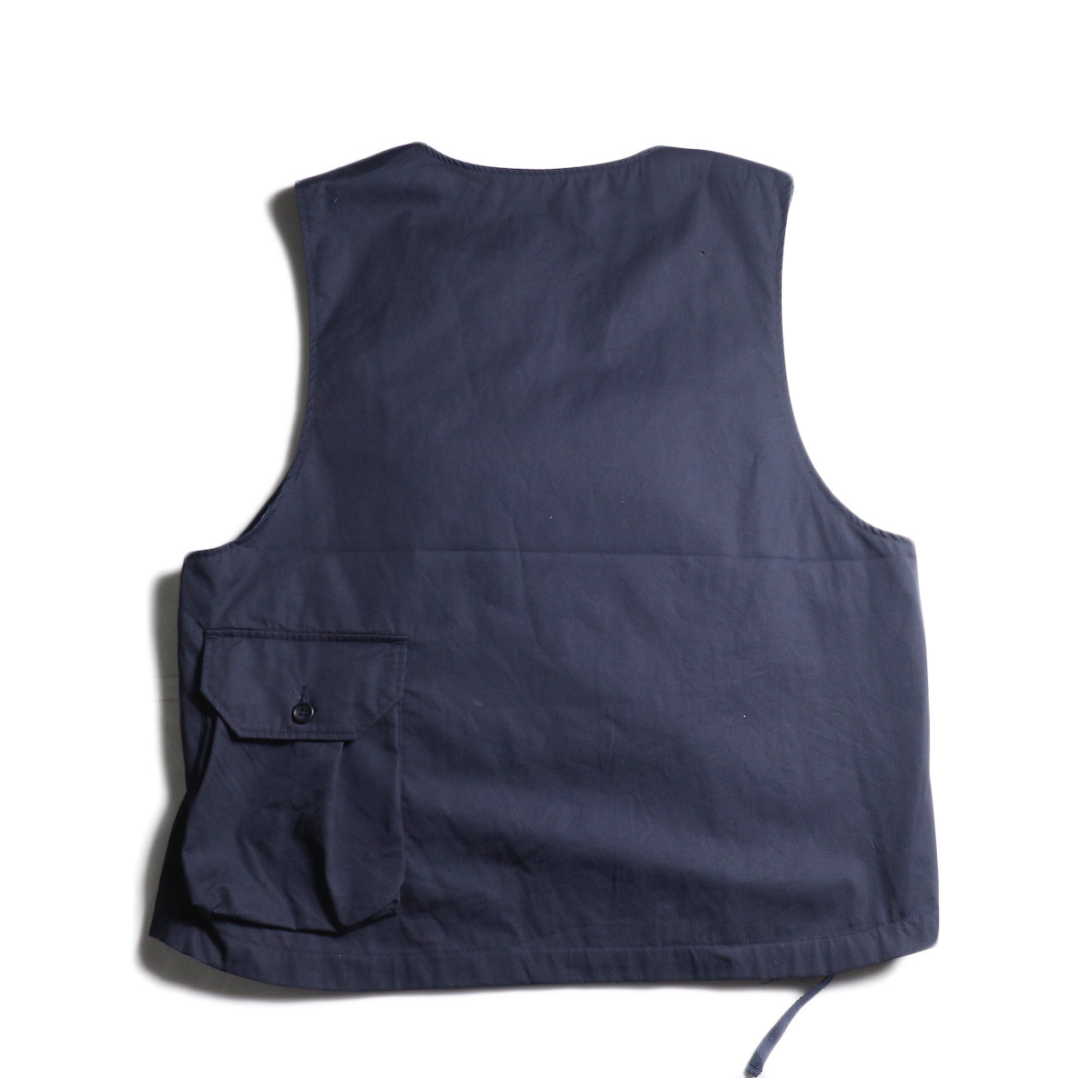 Engineered Garments / Cover Vest -High Count Twill (Dk.Navy) 背面ポケット