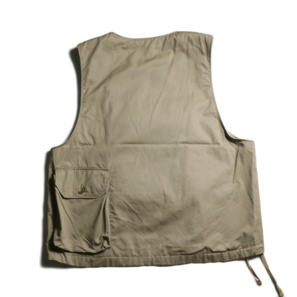 Engineered Garments / Cover Vest -High Count Twill (Khaki) 背面