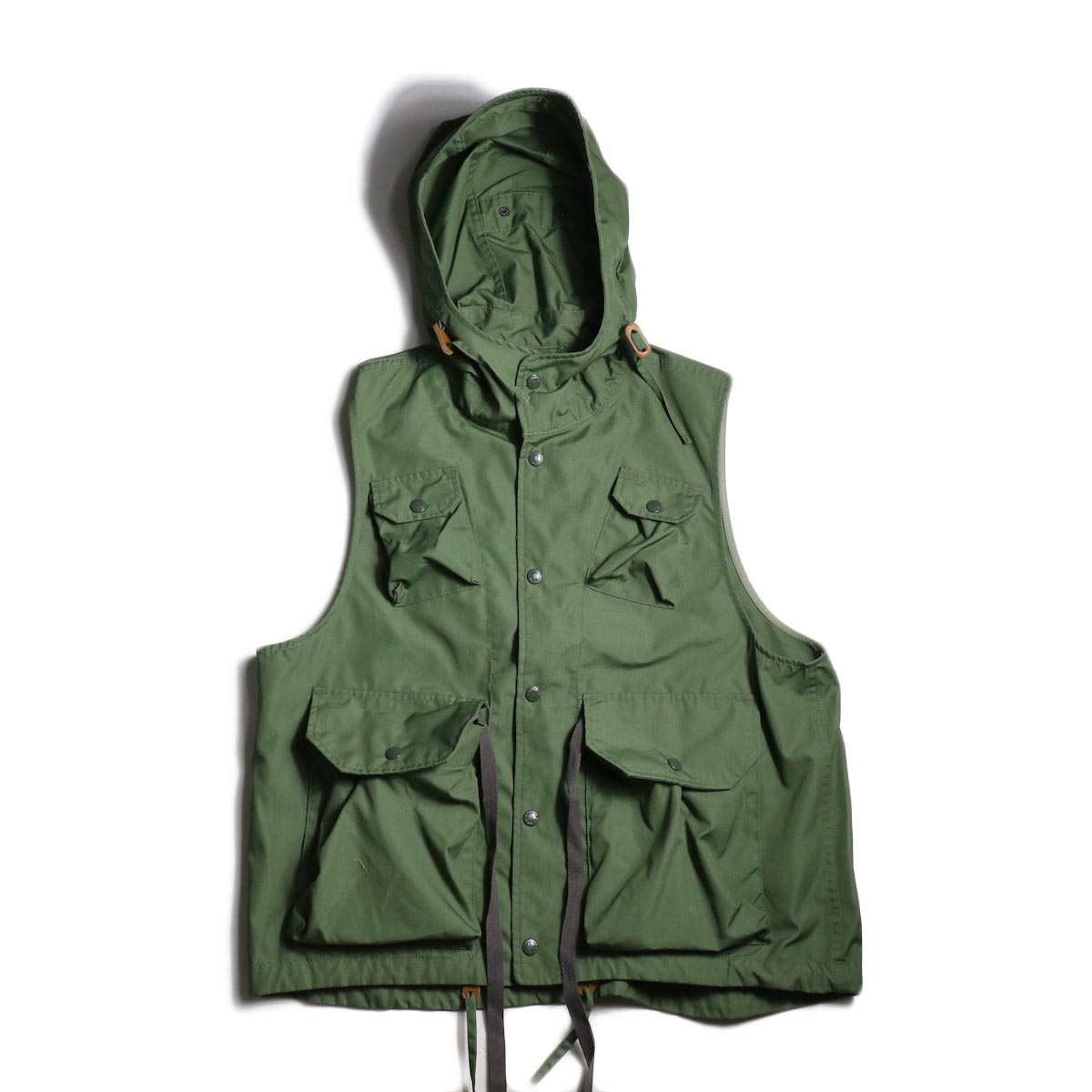 Engineered Garments / FIeld Vest -PC Poplin (Olive)
