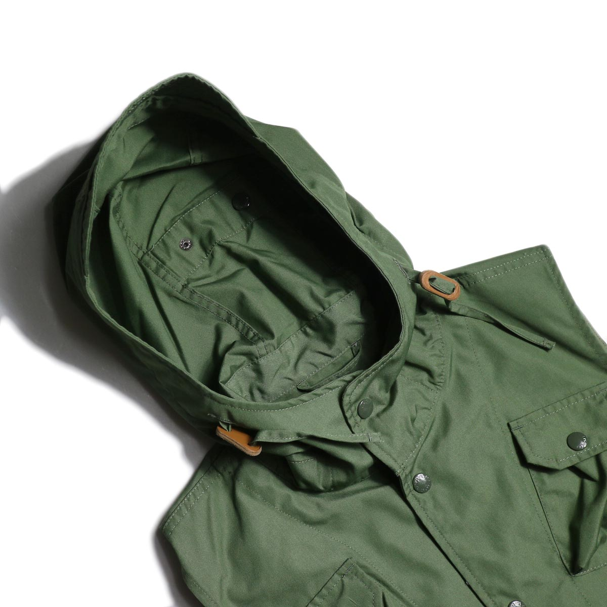 Engineered Garments / FIeld Vest -PC Poplin (Olive) フード