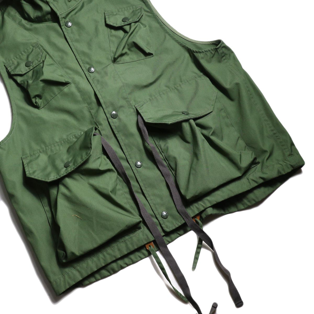 Engineered Garments / FIeld Vest -PC Poplin (Olive) ポケット