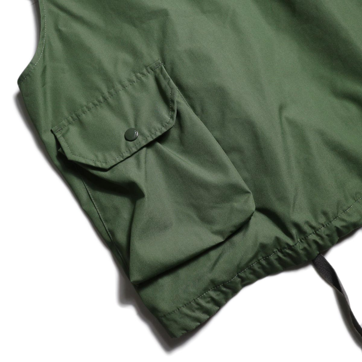 Engineered Garments / FIeld Vest -PC Poplin (Olive)  背面ポケット