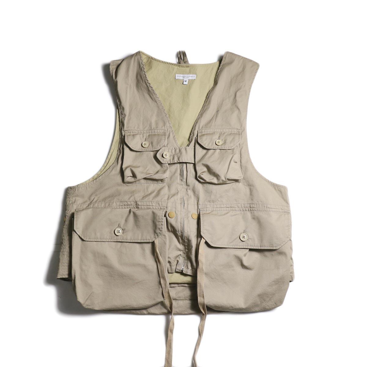 Engineered Garments / Game Vest -High Count Twill (Khaki)