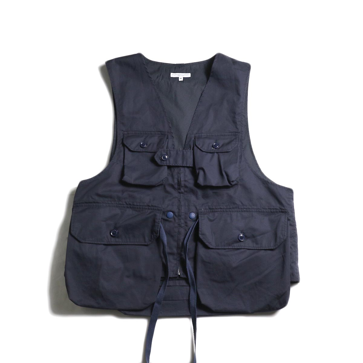 Engineered Garments / Game Vest -High Count Twill (Dk.Navy)
